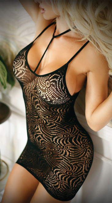 Wild Nights Black Lace Dress
