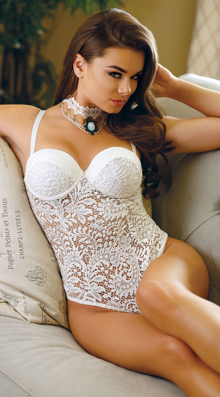 Pola Push Up Cup Lace Teddy