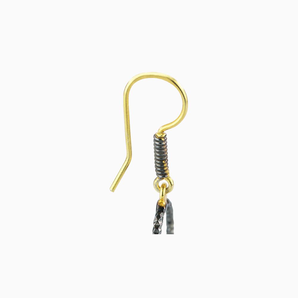 Golden Circle Earrings - Purple