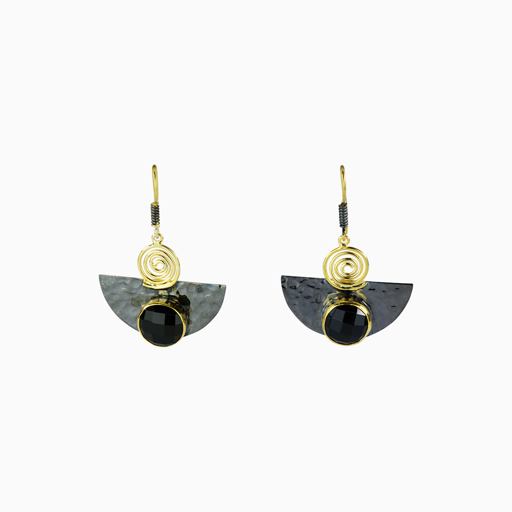 Cleopatra Earrings - Black
