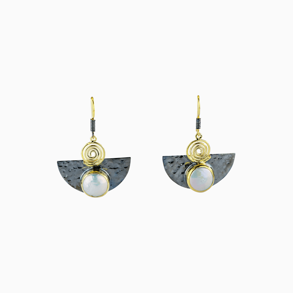 Cleopatra Earrings - White