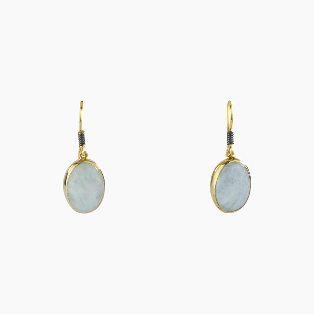 All About the Stone Earrings - White