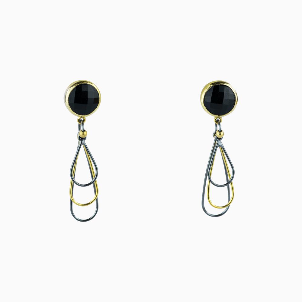 Mini Whisk Earrings - Black/Round