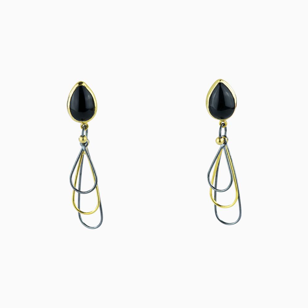 Mini Whisk Earrings - Black/Teardrop