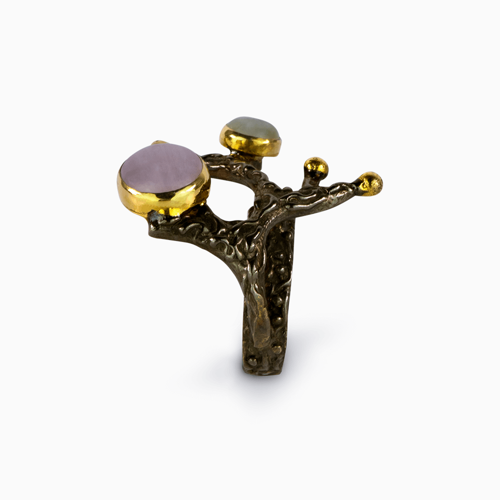 Jeweled Tree Branch Ring