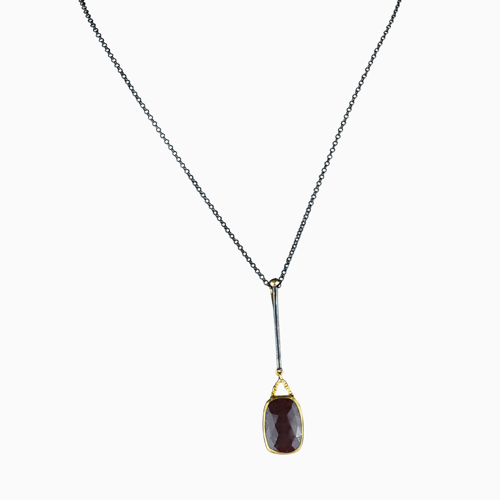 Raindrop Necklace - Brick