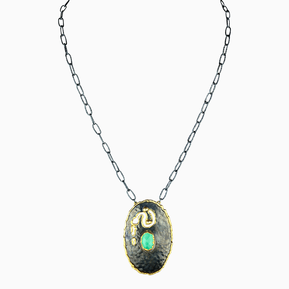 Deep Oyster Necklace - Turquoise