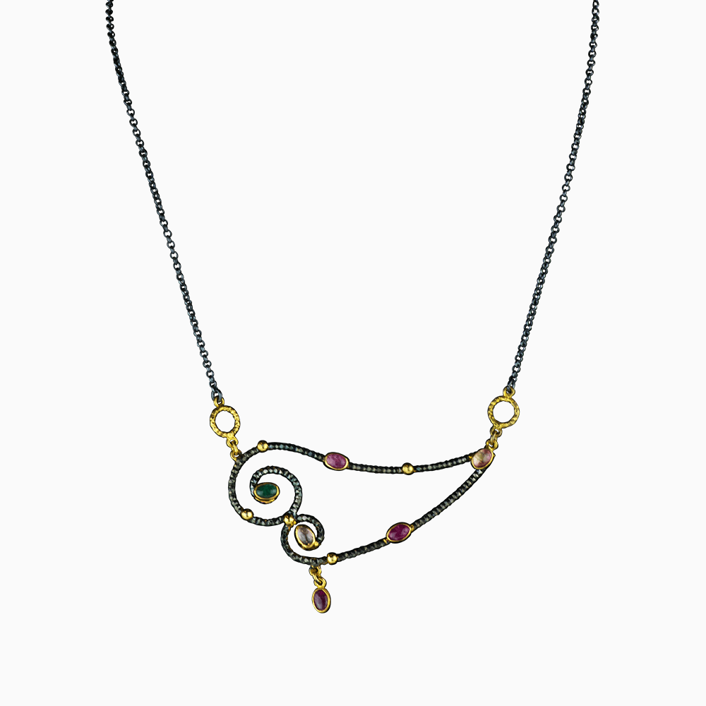 Chain of Love Necklace - Multi 2
