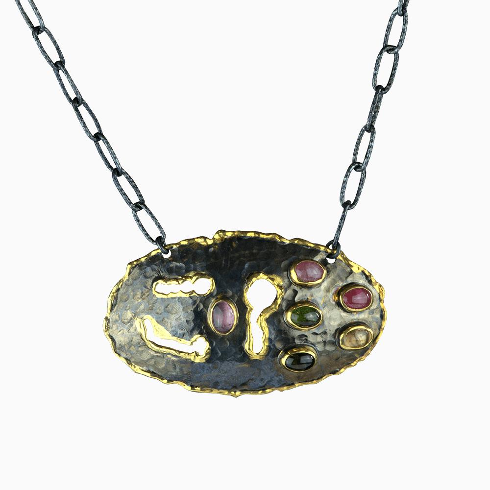 Oval Under the Sea Necklace - Multi