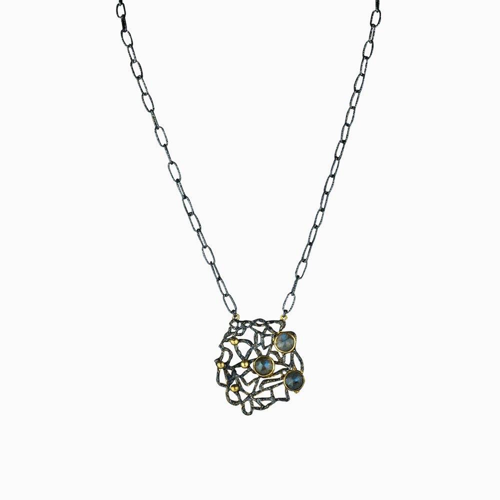 Nautical Tangle Necklace - Green
