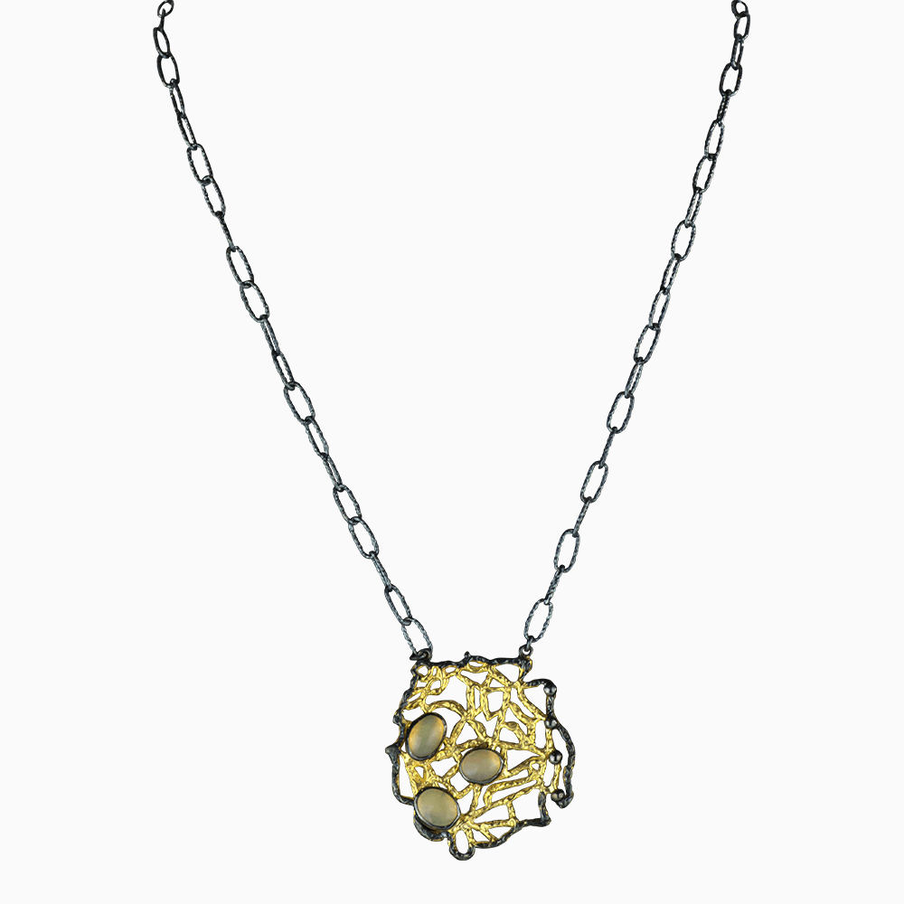 Nautical Tangle Necklace - Yellow