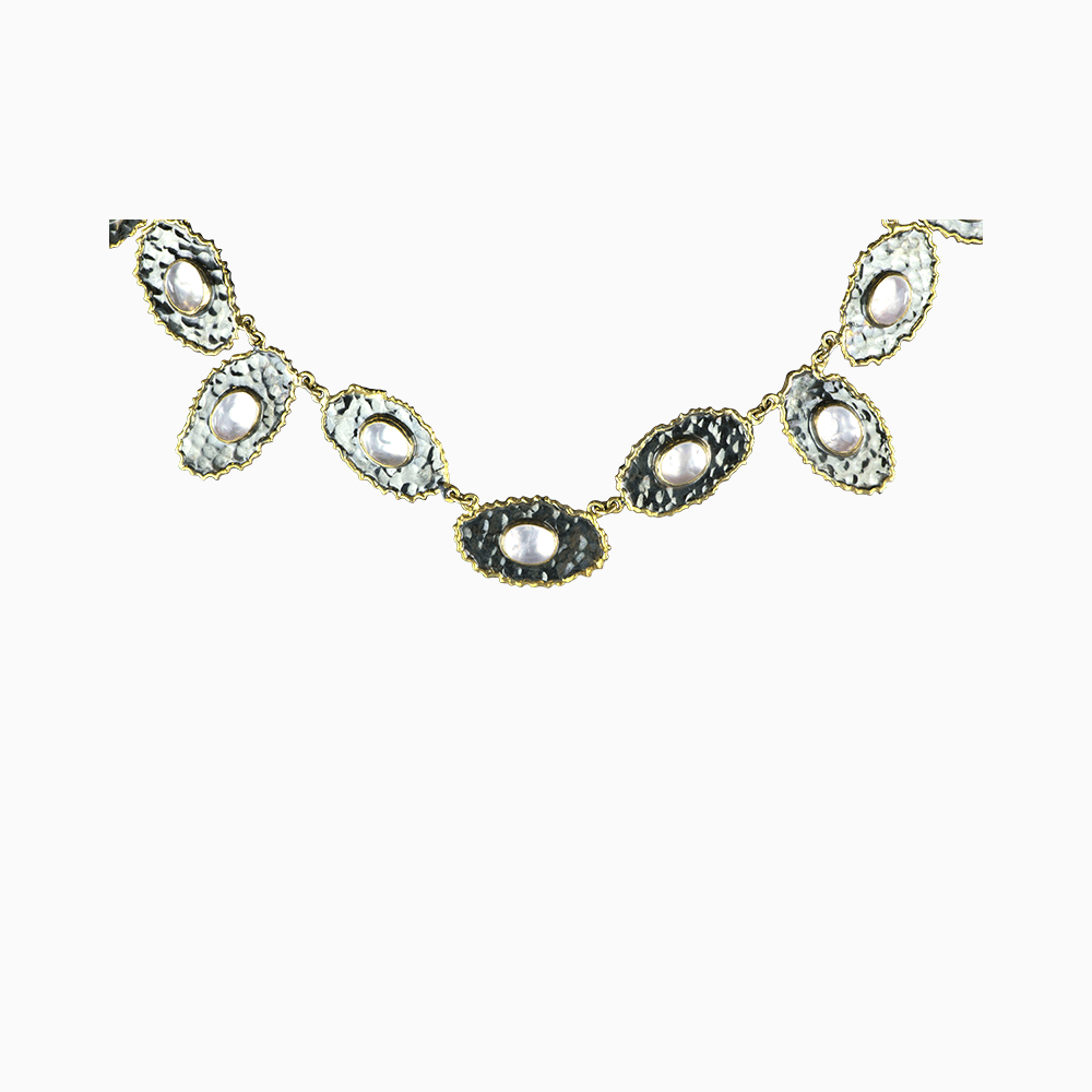 Chain of Oysters Necklace - Pink
