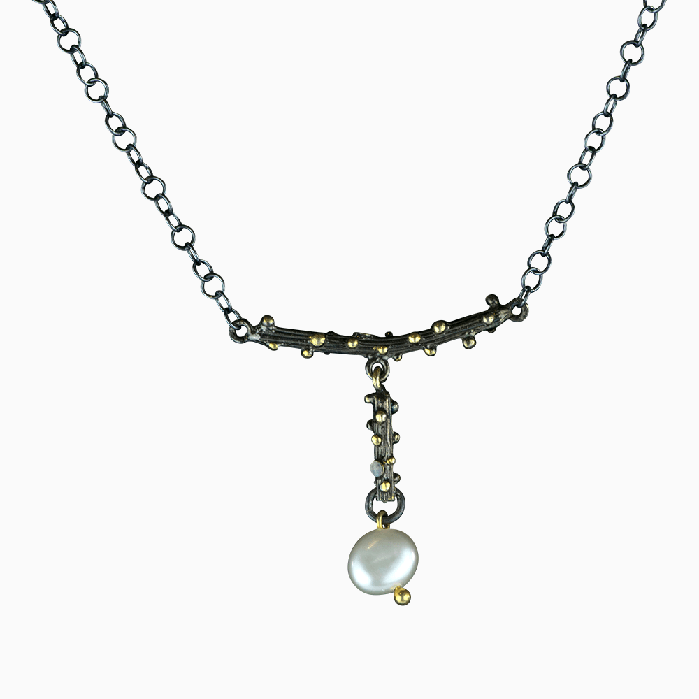 Pearl on a Branch Necklace