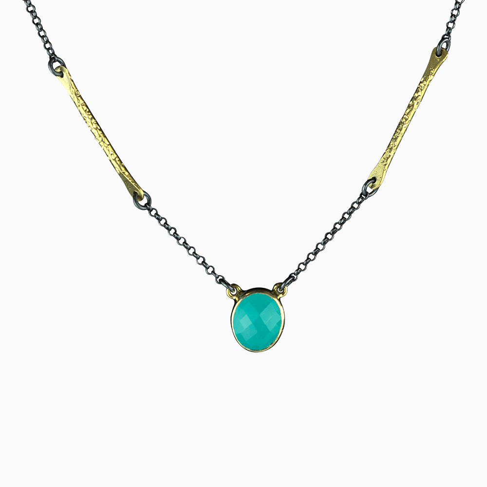 Branch Chain Necklace - Teal