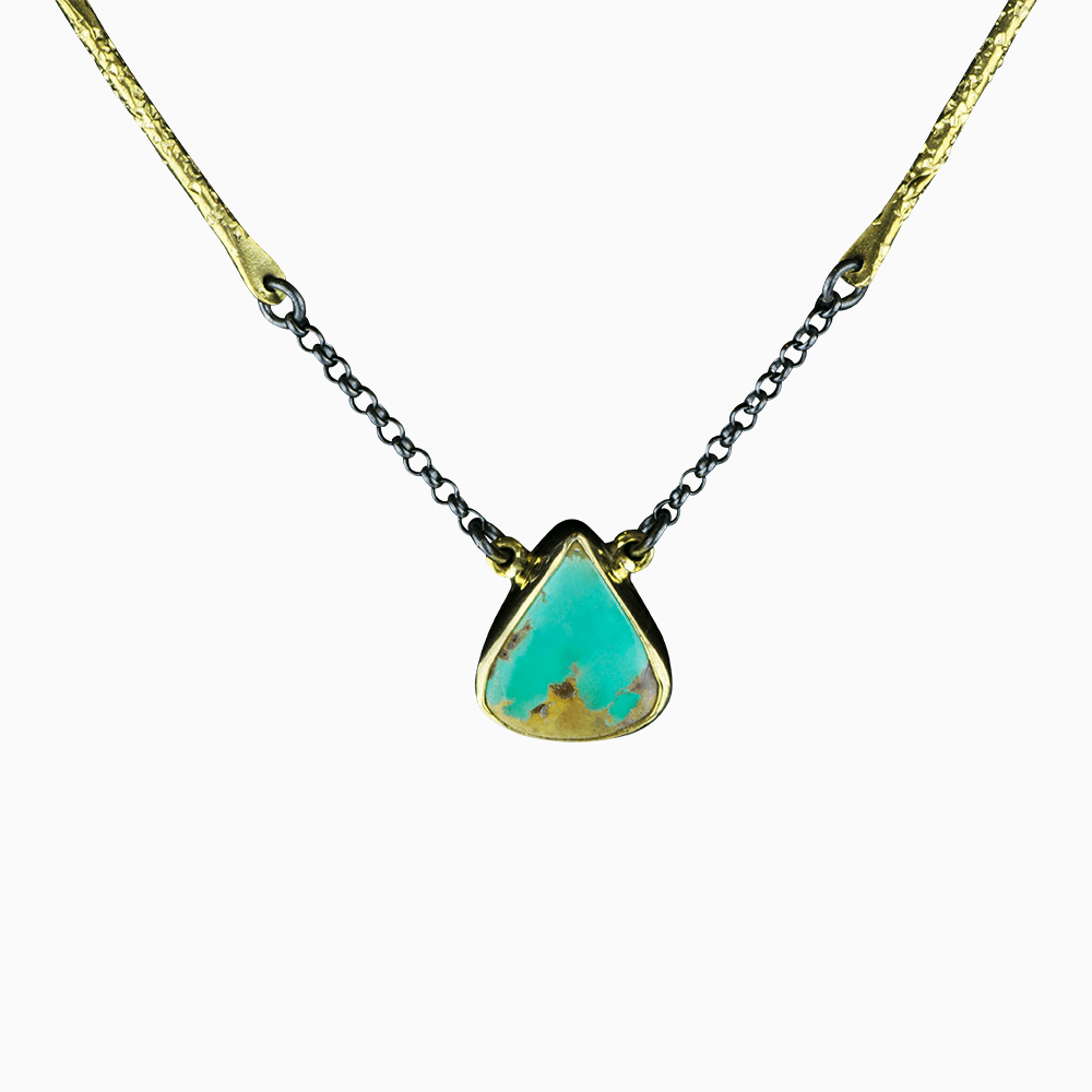 Branch Chain Necklace - Turquoise