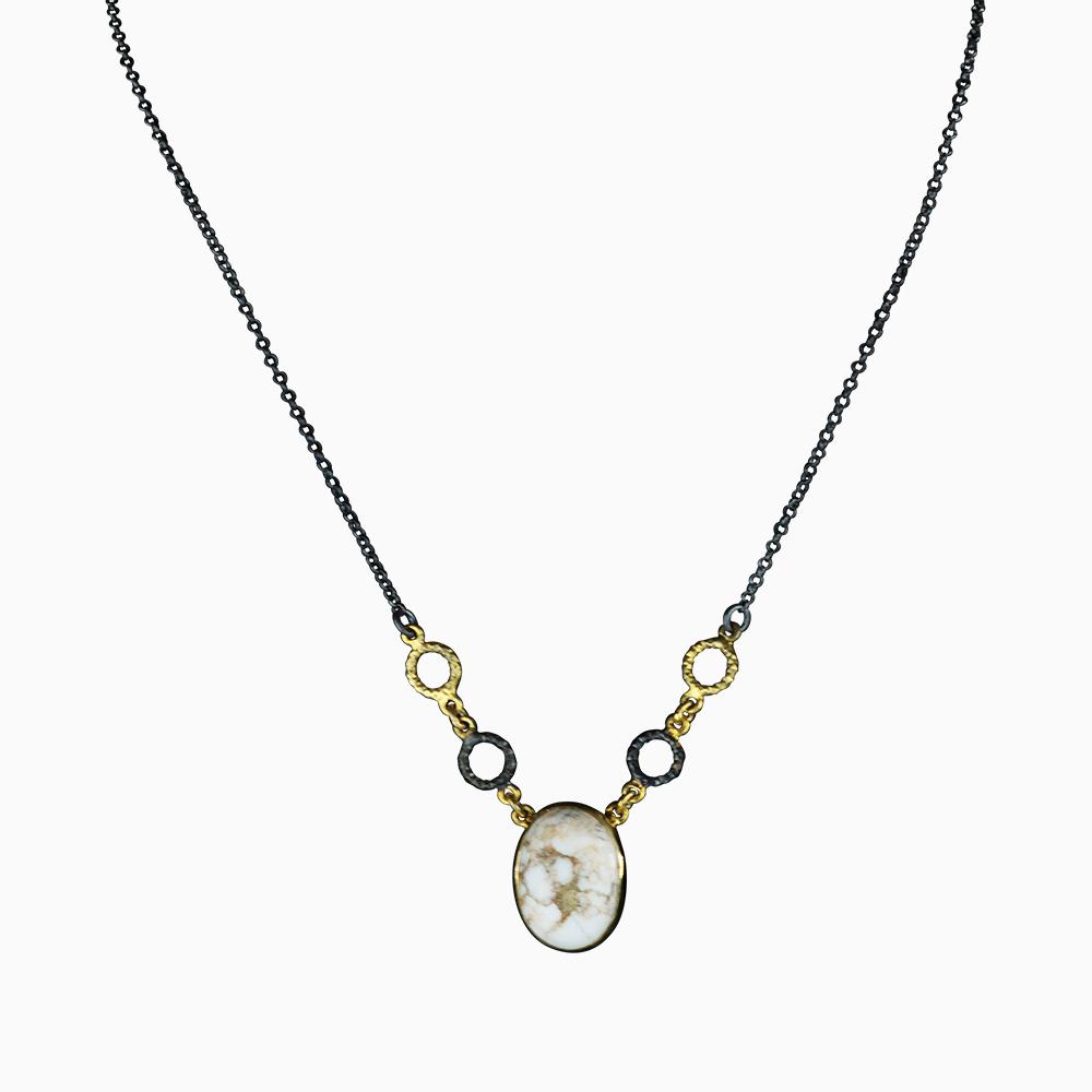 Circled Gem Necklace