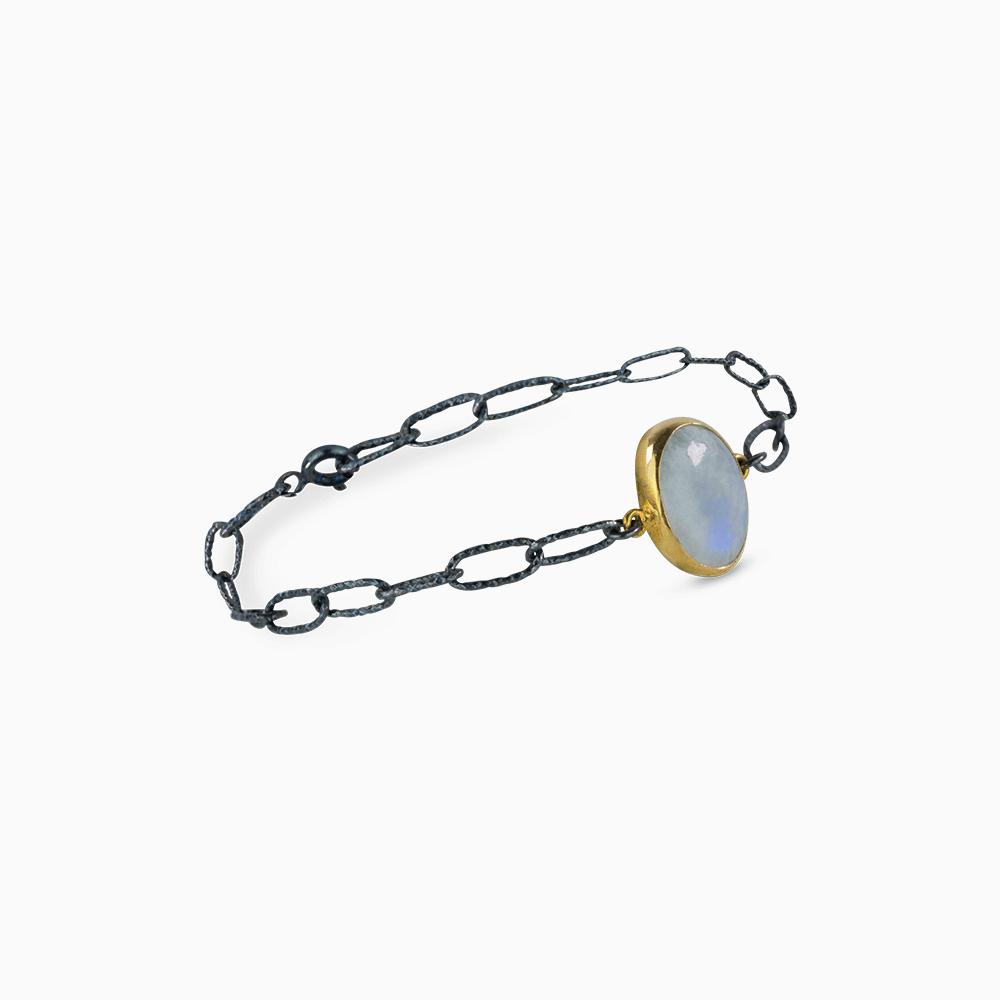 Simple Elegance Bracelet - White Opal