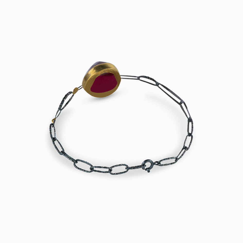 Endless Spiral Bracelet - Ruby