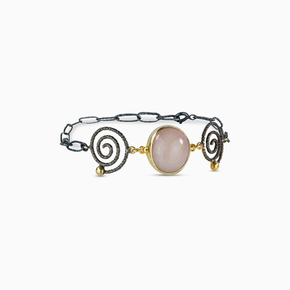 Endless Spiral Bracelet - Mauve