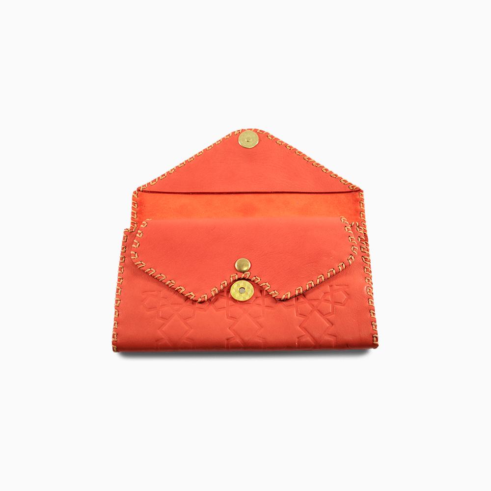 Leather Envelope Wallet - Stars