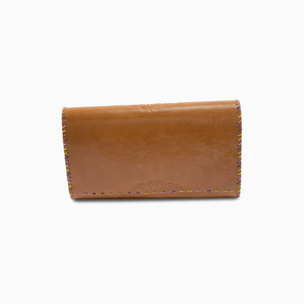 Leather Envelope Wallet - Circle