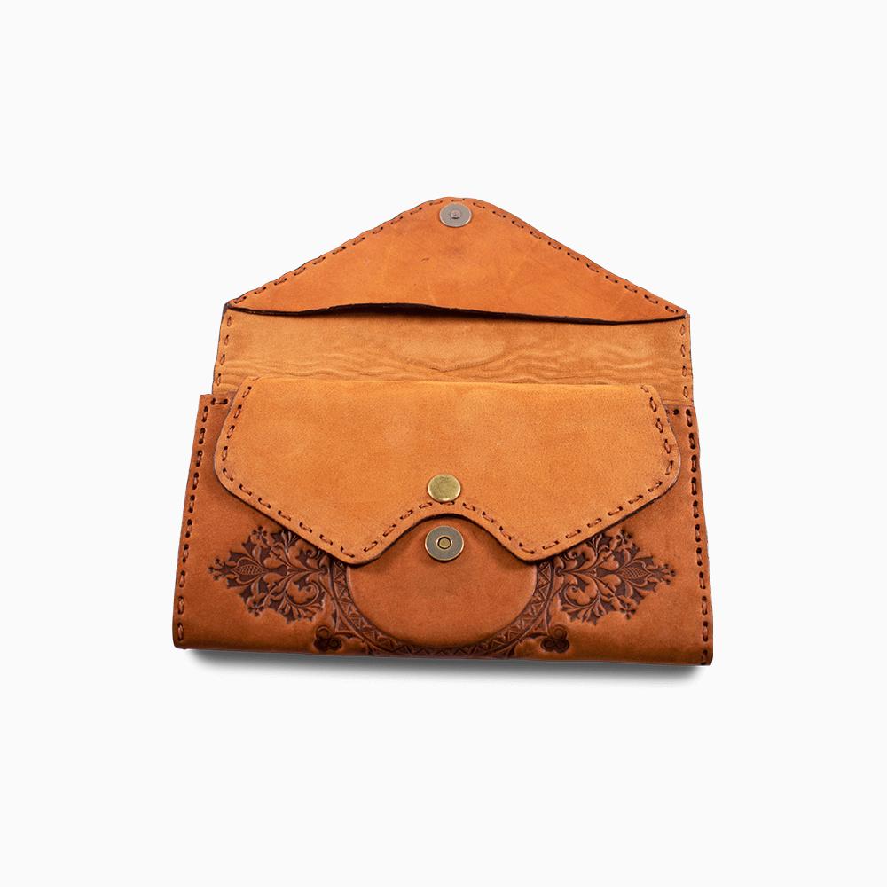 Leather Envelope Wallet - Club