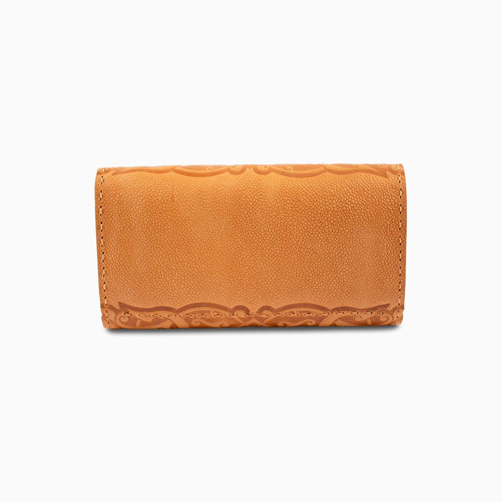 Leather Envelope Wallet - Swirl