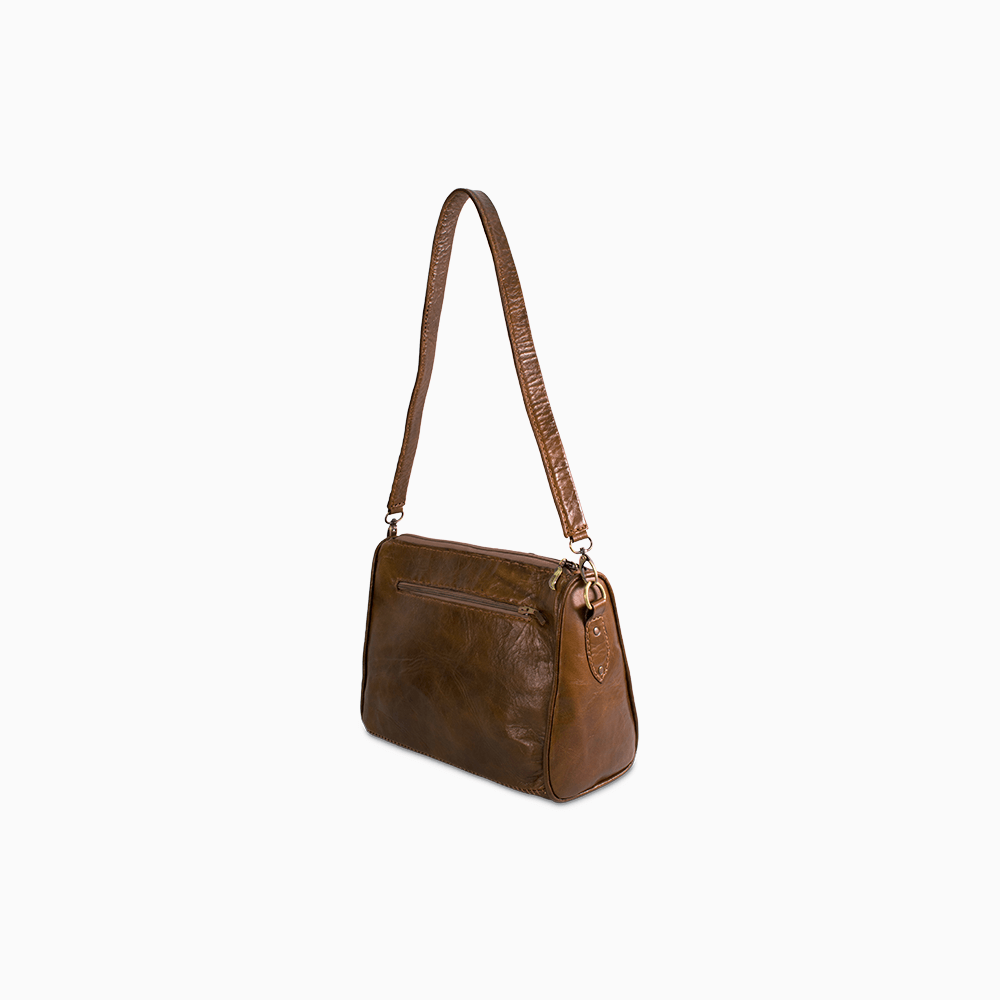 Quilted Tote - Brown/Wave