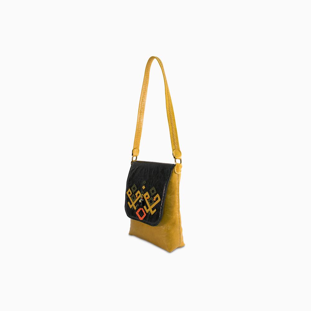 Yellow Tribal Satchel