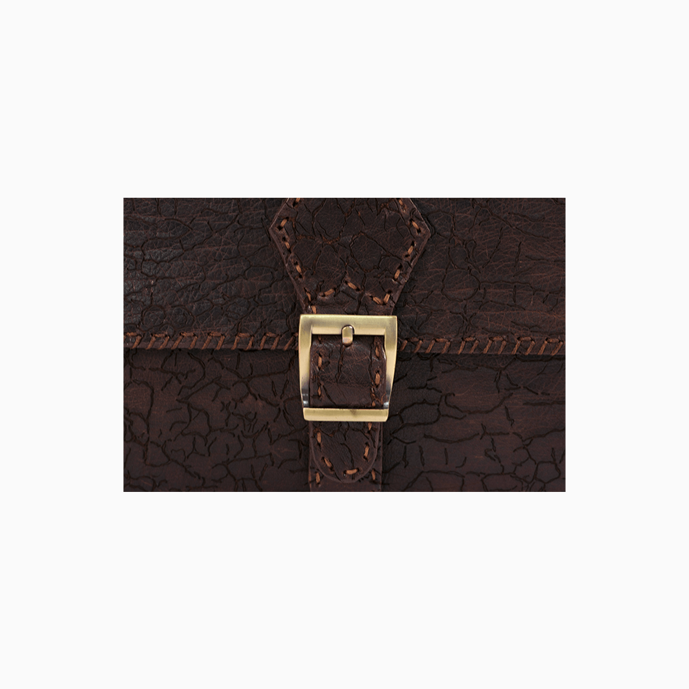 Textured Leather Messenger