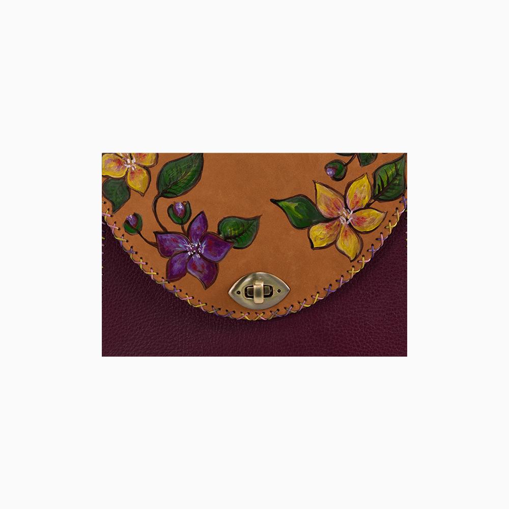 Purple Flower Satchel