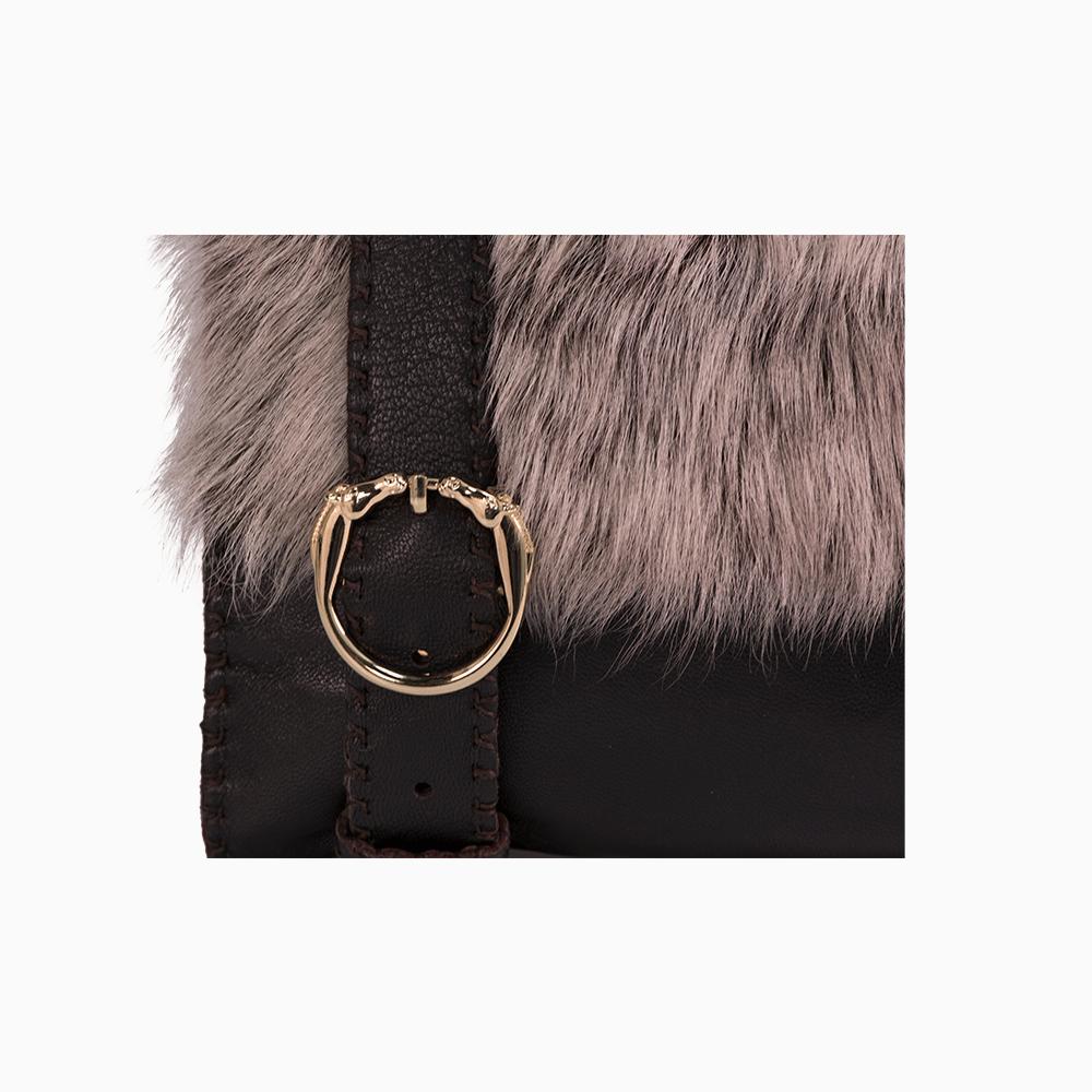 Leather & Fur Satchel