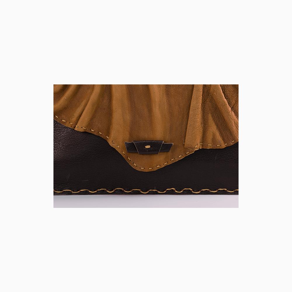 Folded Leather Messenger Bag