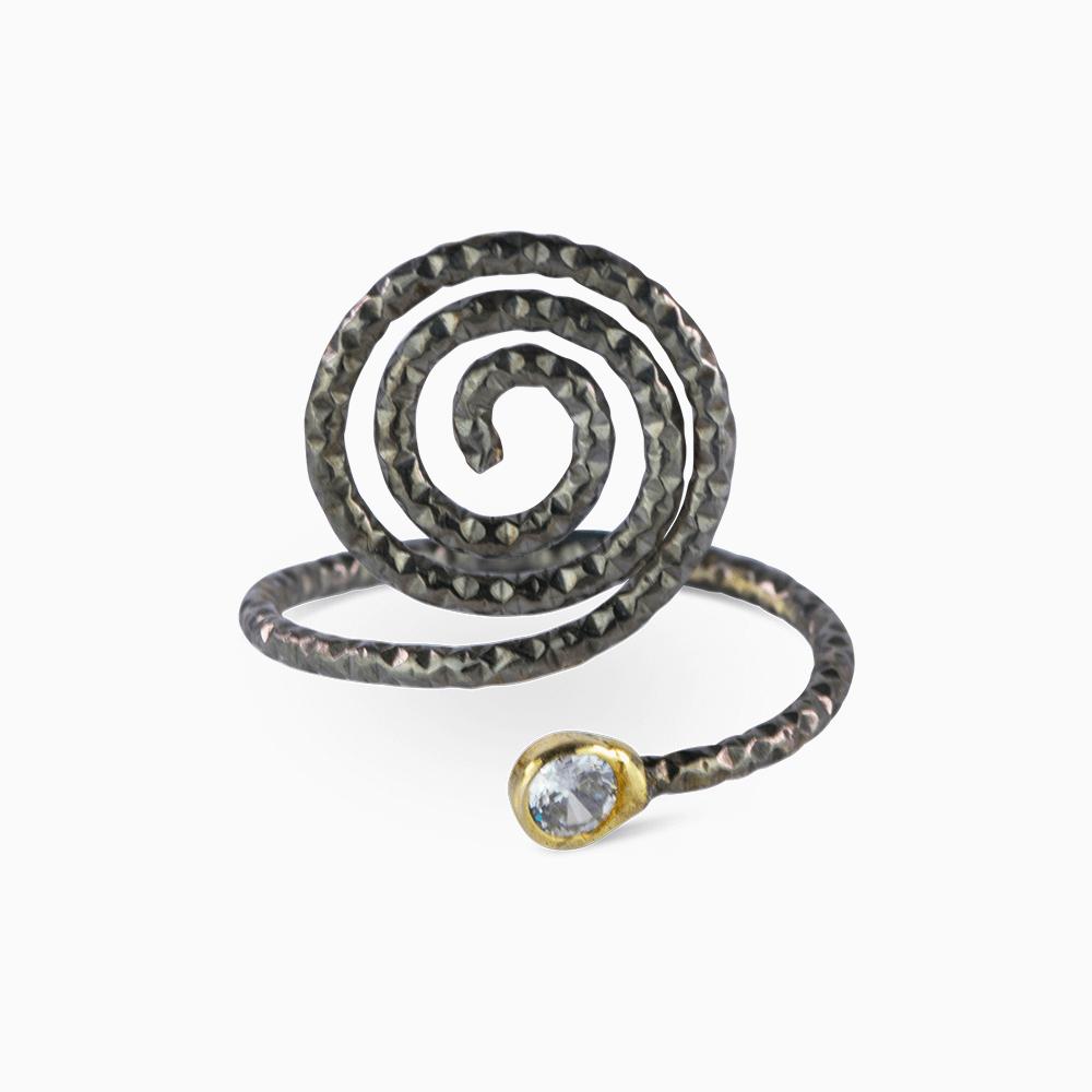 Spiral Ring 7,25 - Diamond