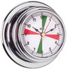 Clock - 70mm with Red/Green Radio Silence Zones Chrome Plated Brass