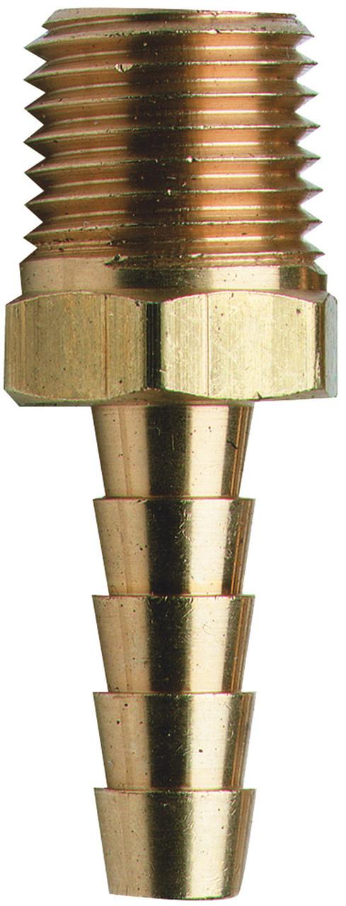 Hose Tail - Brass 1/4 x 10mm