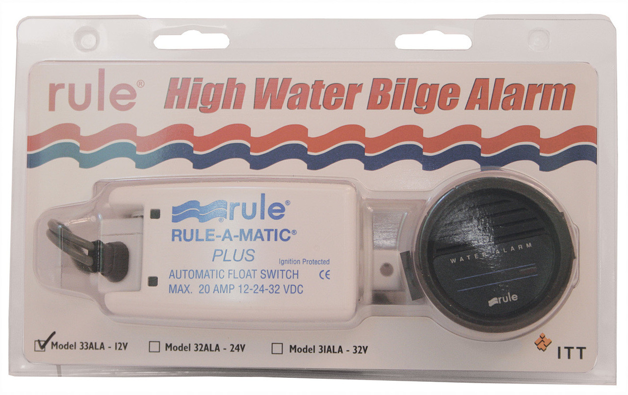 Bilge Pump Rule 'High Water' Alarm Kit 24v