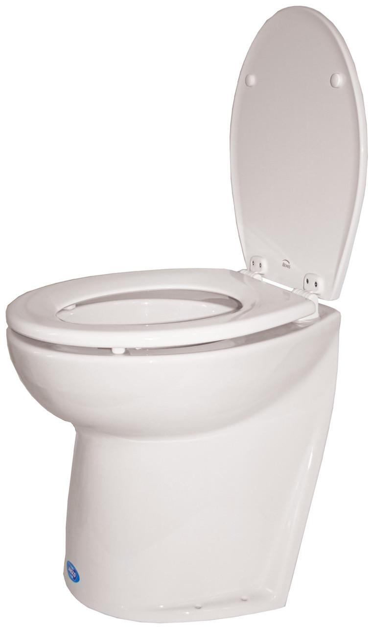 Toilet - Jabsco Silent Flush Slanted Back 24v Salt Water