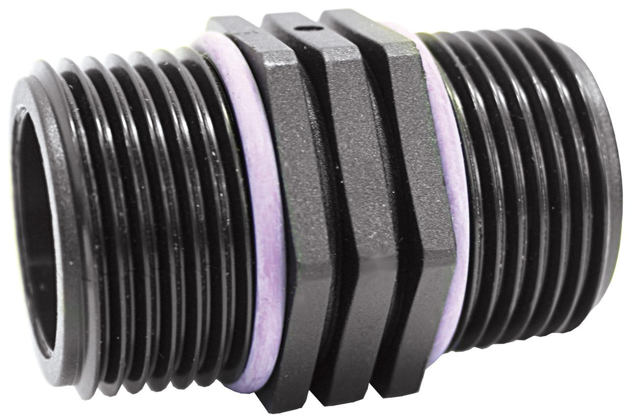 Hex Nipple M-M BSP 1 1/2