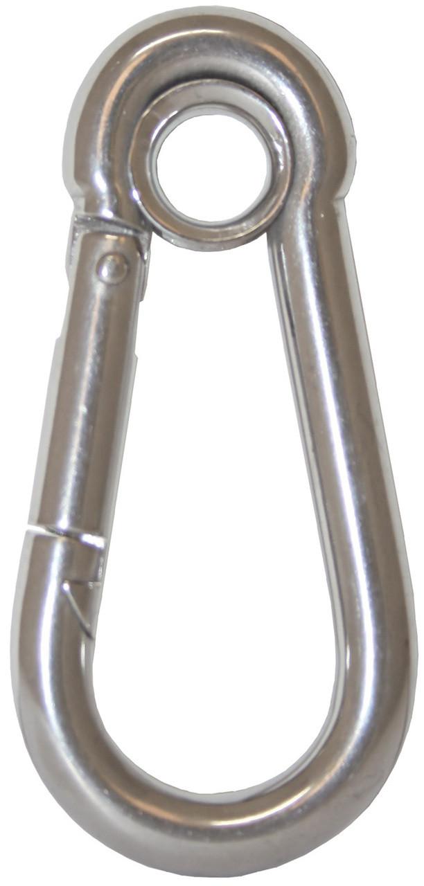 Snap Hook W/eye S/S 80mm