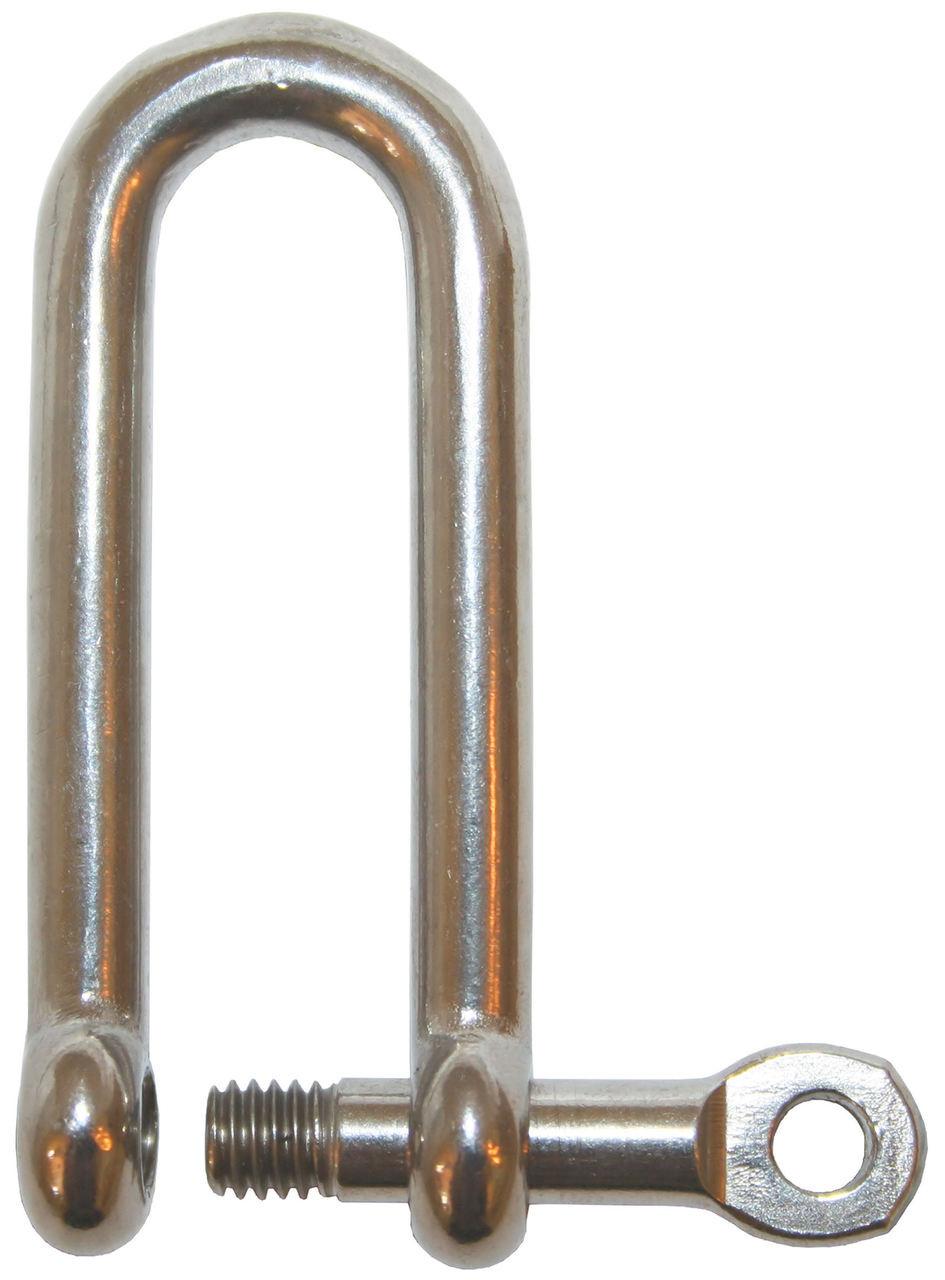 Shackle-Long Dee S/S 6mm