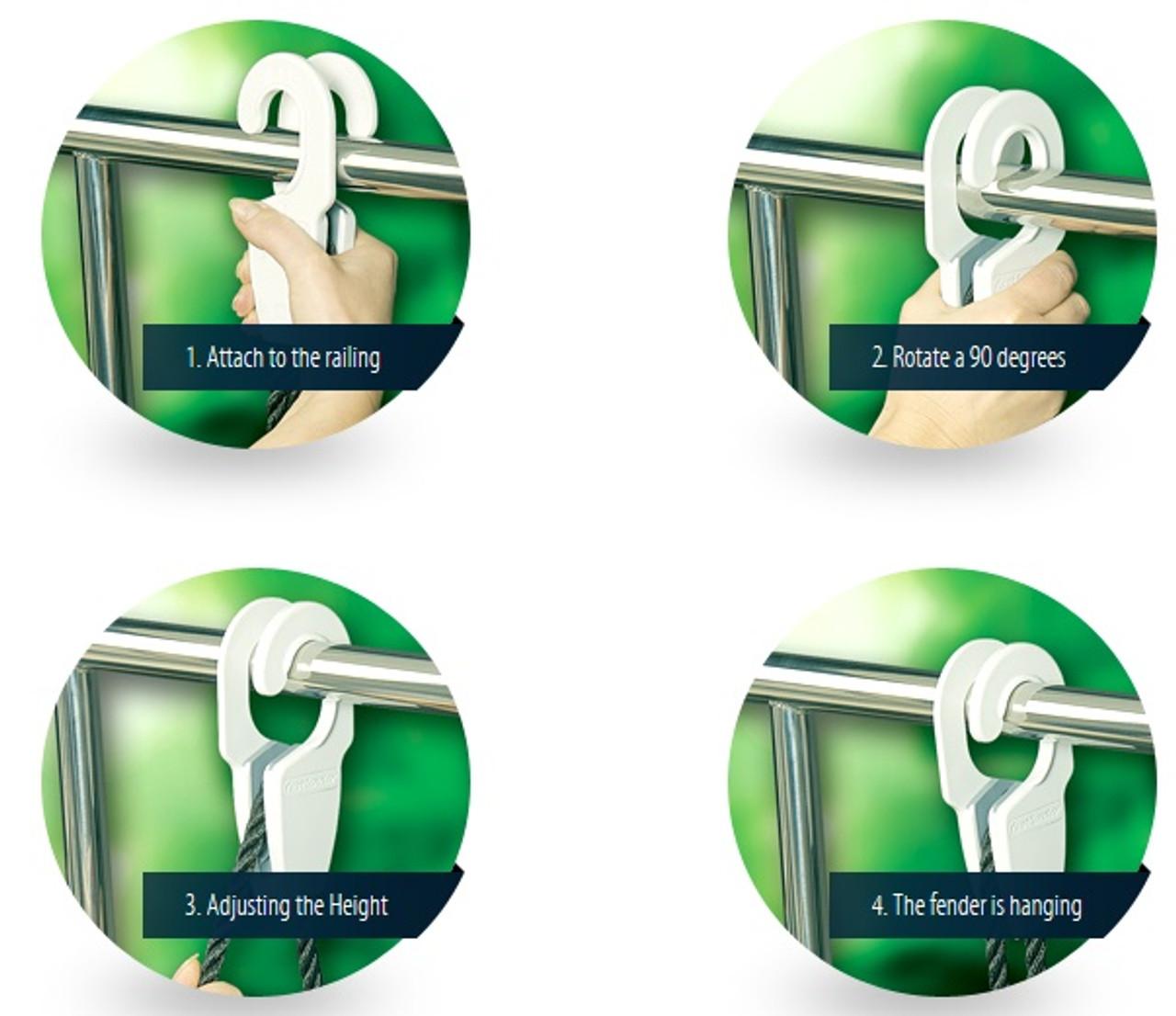 Fastfender Hanger - easy one hand installation