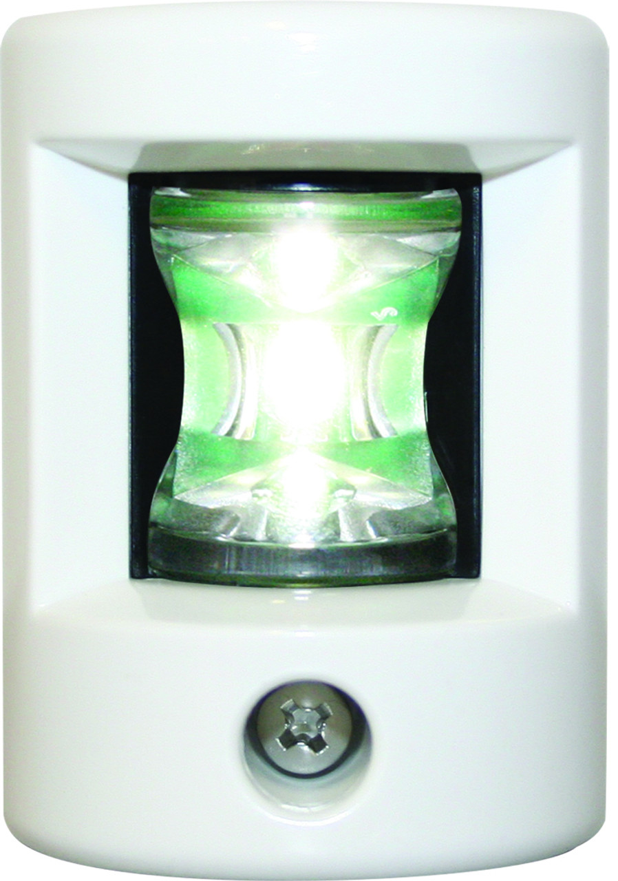 'FOS 12' LEDStern Light - White Vertical mount