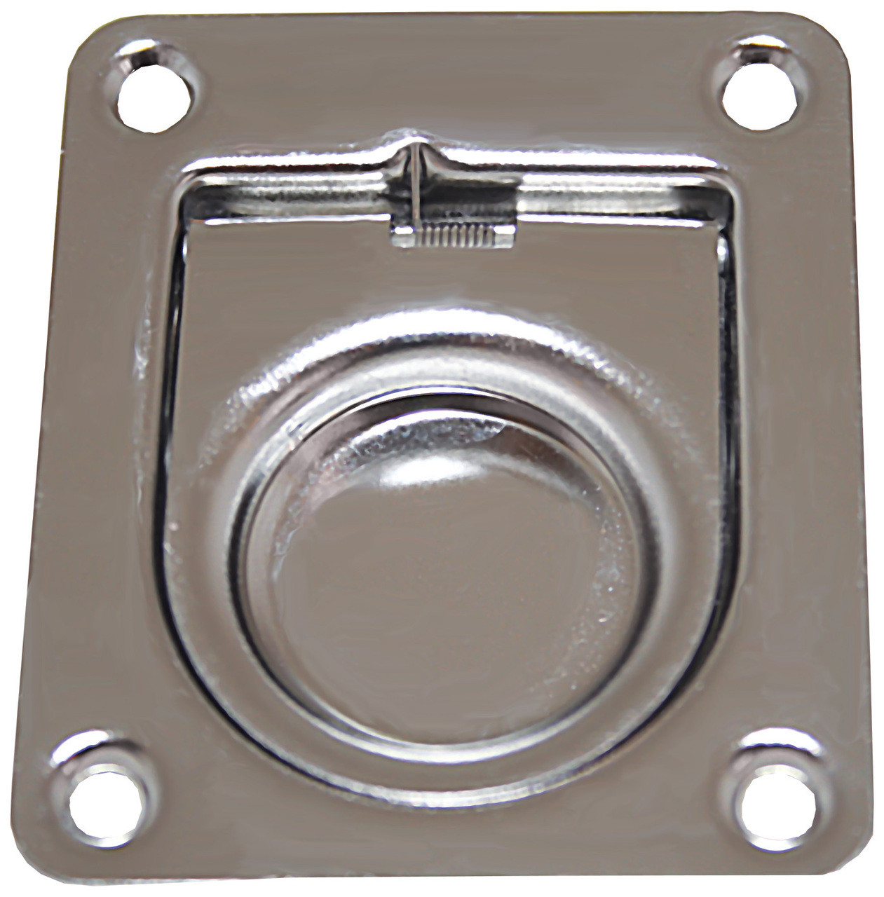 Flush Pull Stainless Steel Anti-Rattle with Spring 65mm x 55mm