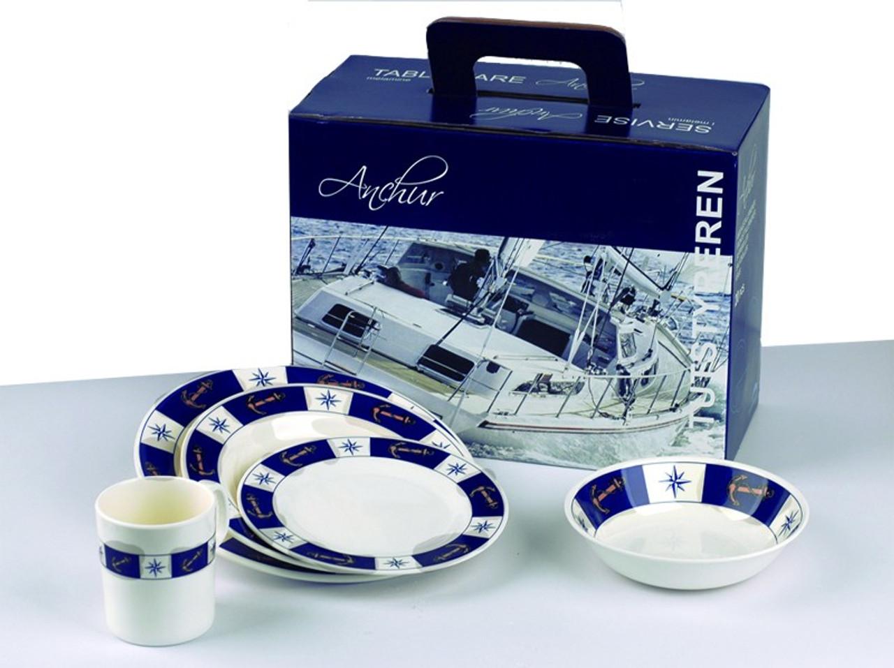 Dinnerware Set - Anchor Pattern