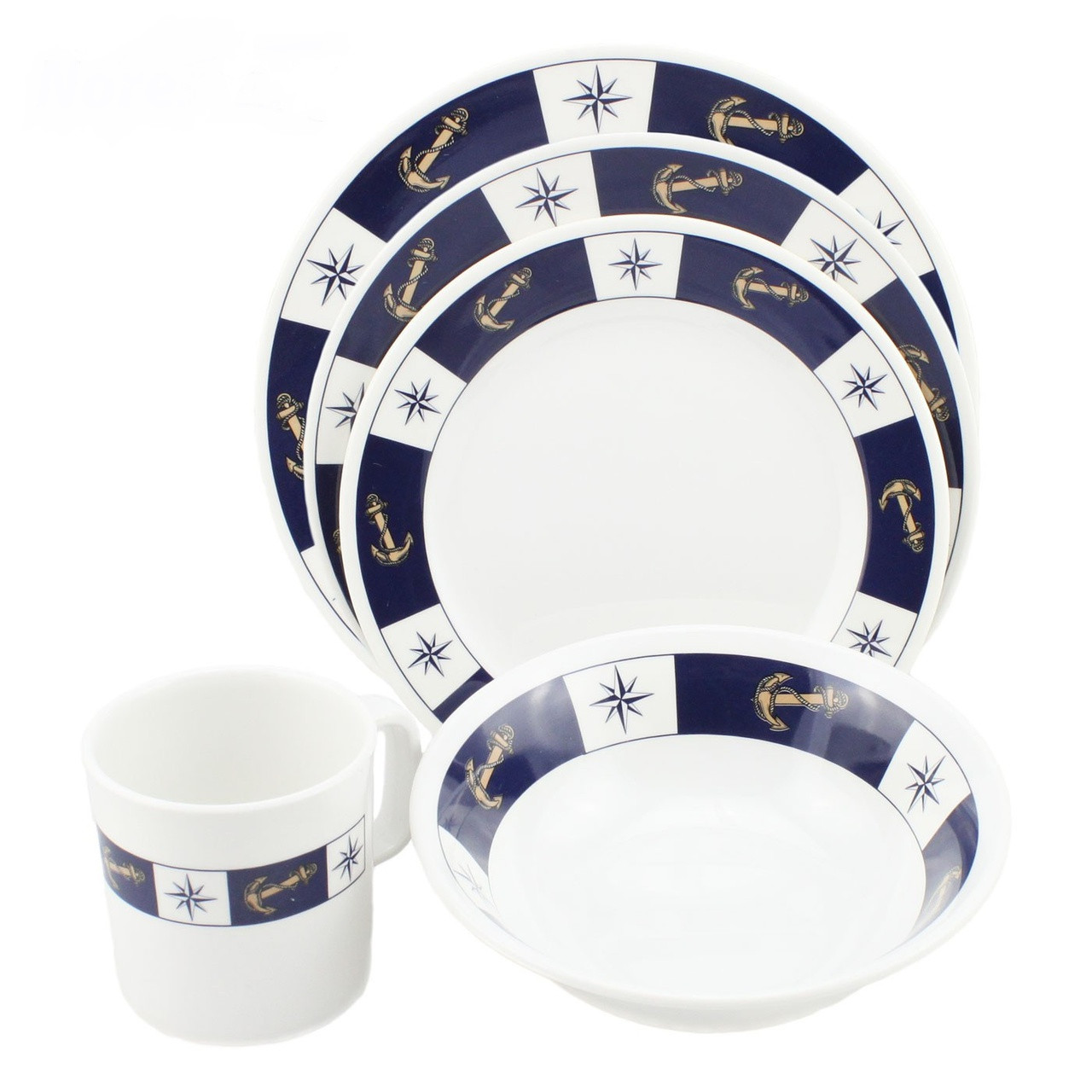 Dinnerware Set - Anchor Pattern