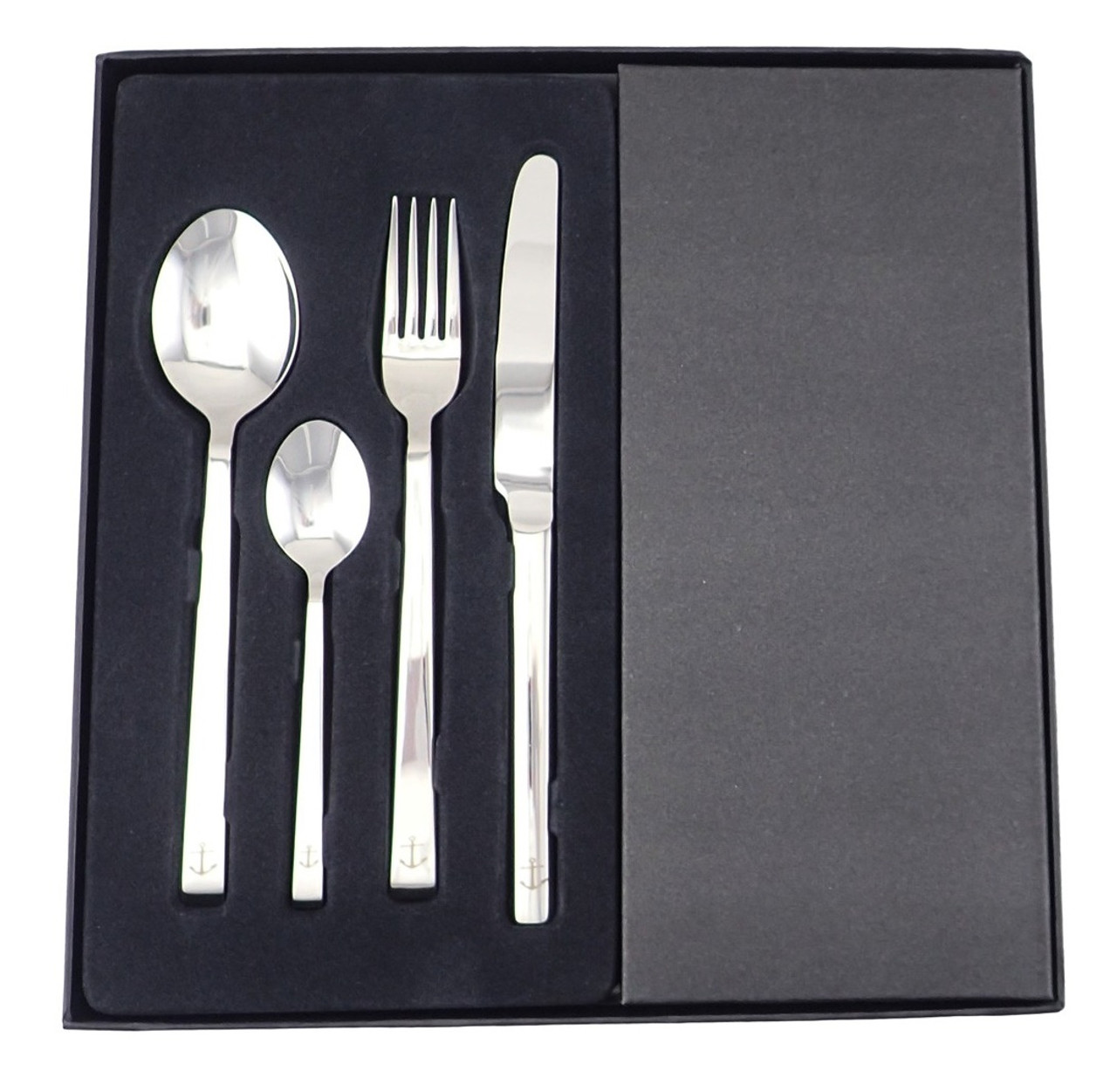 24 Piece Stainless Steel Nautical Cutlery Set
