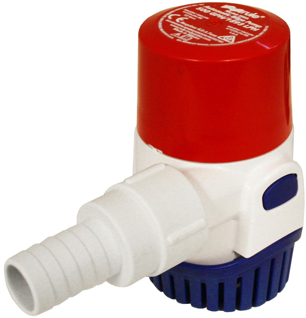Rule 1100 GPH Automatic Water-Sensing Bilge Pump 12v