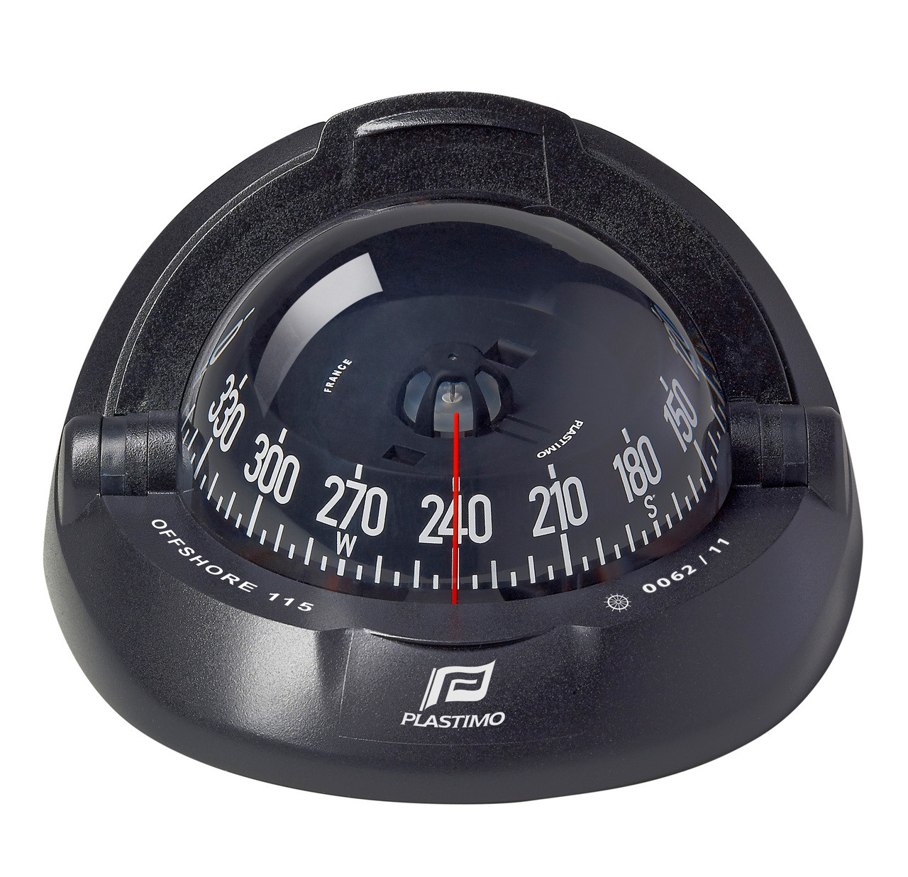 Offshore 115 Powerboat Compass Black, Flush Mount, Conical Card