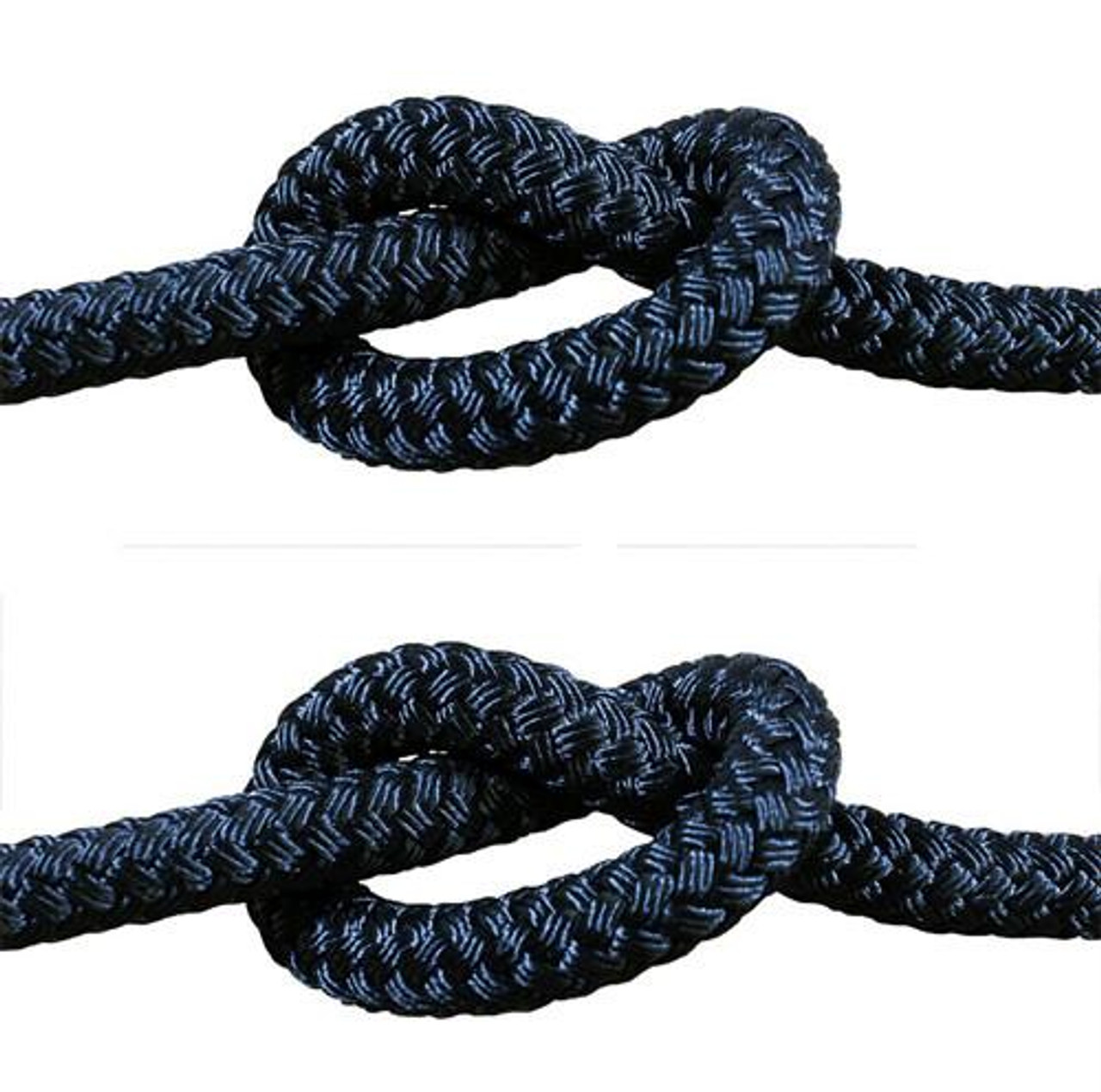 Rope - Double Braid Black 12mm x 1metre